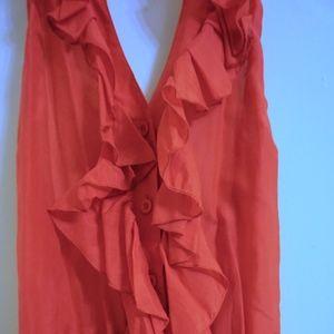 Red Ruffled Halter Top